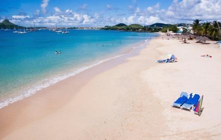 Take a dip at Reduit beach